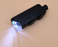 LED 빛 유리 현미경 Lupas De Dumento Loupe 2017와 함께 60x-100x 조명 된 줌 포켓 현미경