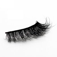Genailish Mink Cílios 3D Mink Cílios Naturais Cílios Postiços 1 par Handmade Falso Eye Lashes Extensão para a Beleza Makeup-A04 Classificado 5.0 / 5