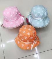 Diseño mixto infantil niña sombrero de sombrero para el sol sombrero para el sol sombrero 30pcs / lot nuevo