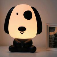 estilo de dibujos animados lindo manera del bebé dormitorio de la luz de la lámpara de San Valentín creativa cachorro pequeño con gusto insertada pequeña noche