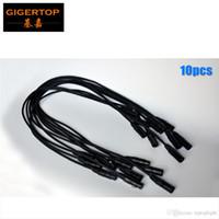 도매 가격 10XLOT 블랙 컬러 알루미늄 헤드 1m 길이 DMX 조명 케이블 스플리터 어댑터 이코노미 클래스 3 핀 DMX 와이어 플러그