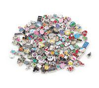 Neue Art Mischt Floating Medailat Charms Legierung Emaille Kristall Charms für Magnetische DIY Glas Medaillon Großhandel 100pc