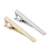 Corbata Pin Corbata para hombre Clip flaco Corbata Pins Barras de oro plata Slim Glassy Corbata Trajes de negocios Accesorios