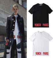 Verão Europa Moda Men bottom Paris logo T-shirt de algodão Casual Women Tee T-shirt