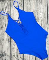 One Piece Swimsuit 2017 Verão Swim Wear Vintage Beach Wear Bandagem Monokini Swimsuit Sexy Mulheres Bodysuit Maiô