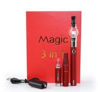 Hot Magic 3 i 1 kit vax torr ört E-flytande atomizers ecigs kit mt3 sedan g5 glas globe 3in1 evod batteri vape fri dhl
