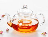 1PC Pratique 400 ml de tasse de bouteille résistante Théière en verre avec infuser Tea Leaf Café à base de plantes 400 ml J1010-1
