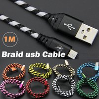 1M 3ft Braided Cable Data Sync Nylon Charger Cord for Androi...
