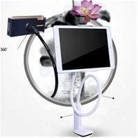 Evrensel Cep Telefonu Tutucu 80 cm Uzun Kol Tembel Tutucu Yatak Masaüstü tutucu ipad Mobil Tablet PC için Genişletilebilir ...