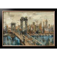 Handgemaakte olieverfschilderijen door Silvia Vassileva New York Bekijk abstracte kunstlandschappen Hoge kwaliteit wanddecoratie