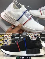black white NMD Runner R1 Primeknit PK France Low Men' s...