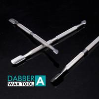 Vaporisateur Cire Dabber Tools Ego Evod Atomizer E-Cigarettes Accessoires d'acier inoxydable Tool DAB Total Sèche Herbe Titanium