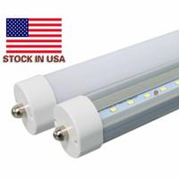 Gros réduction! Stock US 8 pieds LED 8FT PIN SIMPLE T8 FA8 FA8 Single Broche LED Tube LED Lampes de tube fluorescent de 45W 4800LM