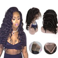 Indian 360 Lace Band Frontal Closure Loose Wave Pre Plucked ...