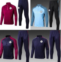 aaa quality 17 18 new City training suit soccer jersey set 2...