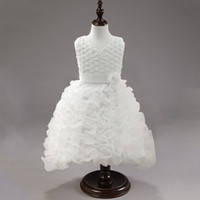 Flower Girls Dress Beads and Embroidery Decoration Sleeveles...