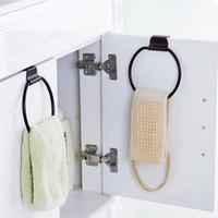 Porte-serviettes design vintage anneau forme ronde rustique en fonte porte-serviettes de stockage support suspendu salle de bain cuisine accessoires ZA2878