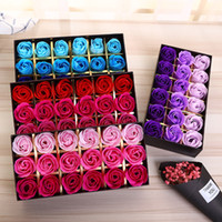 18 STÜCKE Rose Seifen Blume Verpackt Hochzeit Liefert Geschenke Event Party Waren Favor Wc Seife Duft Bad-accessoires Valentinstag Blume Geschenk