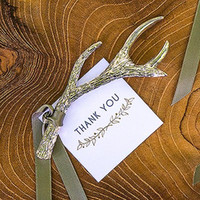 Silver Antler Bottle Opener Favors for wedding bridal shower...