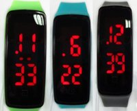 12 colors Sports Wrist Watches Led Digital Display Touch Scr...