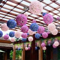 25cm 인공 실크 로즈 Pomander 꽃 공 웨딩 파티 꽃다발 홈 장식 장식 키스 공 홉