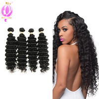 4Bundles Deep Wave Brazilian Virgin Hair 100% Human Hair Wea...