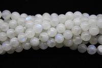 cristallo braccialetto gioielli fai da autentica pura pietra di luna naturale con perline di luce blu