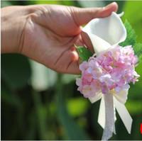 La mariée époux Calla lily fleur corsage broches la demoiselle d'honneur fleurs au poignet