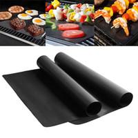 شواء شواء حصيرة reusable غير عصا شواء شواء حصيرة ورقة المحمولة سهلة نظيفة outdoor الطبخ أداة شواء بطانة 40 سنتيمتر * 33 سنتيمتر * 0.2 ملليمتر WX-C23