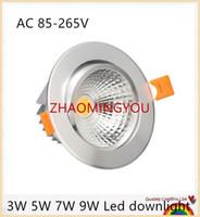 Levou luz downlight COB Spot de Teto de Luz 3 W 5 W 7 W 9 W 12 W 15 W 18 W 30 W AC85-265V teto recesso Luzes Iluminação Interior