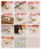 All'ingrosso Amo mamma Europa e Stati Uniti Famiglia luna amore innamorato Collana pendente per le donne Ragazza Miglior regalo gioielli 002