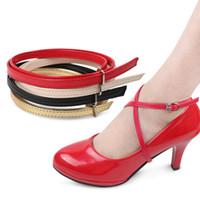60 cm Multicolor-Knöchelschuhe DIY Schnürsenkel mit Button-Sicherheits-Clip für Damen-High Heel-Schuh