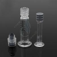 Nuova siringa Pyrex Luer Lock Punta in vetro 1ML iniettore per cartucce di olio di Co2 spesse Serbatoio BUD touch e atomizzatori di sigarette Clearomizers DHL