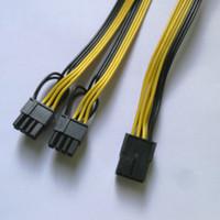 50 قطعة / الوحدة جودة عالية الطاقة الكمبيوتر 8 دبوس PCI-E إلى 2 * 8 (6 + 2) دبوس الفاصل 18awg ارشادية كابل الطاقة