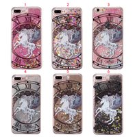 Unicorn Horse Quicksand Dynamic Liquid Phone Case For Iphone...