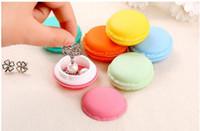 4 * 2 cm Macaron Aufbewahrungsboxen Schmuckverpackung Nette Süßigkeiten Farbe Anzeige Pille Fall Organizer Home Decoration Geschenk