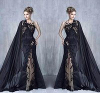 2017 Fashion Unique Sexy Black Embroidery Lace Evening Dress...