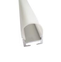 10 X 1M sistemas / porción redonda perfil forma llevó la tira de aluminio y Fan canal de extrusión tipo para pared de techo o colgante lámparas