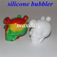 Martian Design Silicone Bubbler Hookah Mini Travel Bongs Bongs Tubería de agua Bubble Blunt Bong al por mayor por DHL