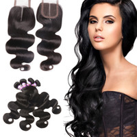 Badshop Malaysian Body Wave with Closure 4 Bundles Malaysian...