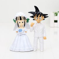 11cm Dragon Ball Z Figure Goku ChiChi Wedding PVC Action Fig...