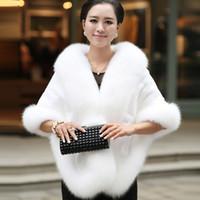 2019 Winter Wedding Coat Bridal Faux Fur Wraps Warm shawls Outerwear Black Burgundy White Fashion Style Women Jacket Prom Evening Party