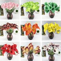 Mazzi di calla dei fiori artificiali di alta qualità 12 colori per la decorazione del bouquet da sposa da sposa 200pcs / lot IC783