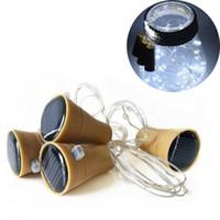 Edison2011 الفلين شكل زجاجة النبيذ أدت سلسلة ضوء الطاقة الشمسية 1 متر 10 led ليلة الجنية ضوء مصباح ملون صغير سلسلة الجنية ضوء