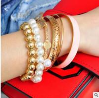La moda scava fuori il braccialetto multistrato di perle molti colori possono scegliere la spedizione gratuita