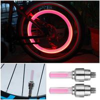2x LED Lampe Flash Tire Clapet De Roue Lumière Pour Voiture Moto Vélo Moto