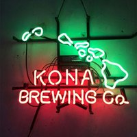 "17"" x14"" KONA BREWING HAWAII REAL GLASS TUBE NEON L..."