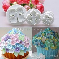 3pcs hortensia gâteau fondant décoration sucre artisanat plongeur coupeur moule à fleurs E00280 ONET