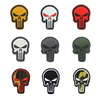 Punisher Skull 3D ARMY Embroidered PVC Applique Patch Tactic...