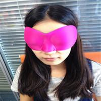 Nuovi arrivi vendita calda 3D sonno riposo viaggio maschera per gli occhi ombra copertura della spugna eyeshade benda trasporto libero